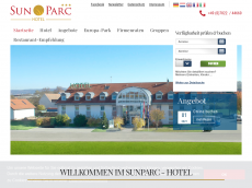 Screenshot der Domain sunpark-hotel.de