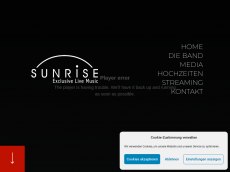 Screenshot der Domain sunrise-live.de