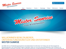 Screenshot der Domain sunrise-showband.de
