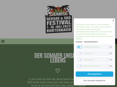 Screenshot der Domain sunrisefestival.de