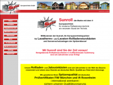 Screenshot der Domain sunroll.de