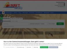 Screenshot von sunsetholidays.de