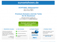 Screenshot der Domain sunsetshows.de