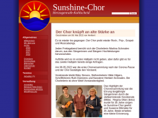 Screenshot der Domain sunshine-chor.de