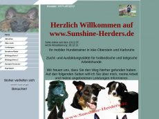 Screenshot der Domain sunshine-herders.de