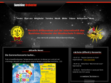 Screenshot der Domain sunshine-orchester.de