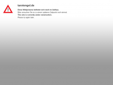 Screenshot der Domain tarotengel.de