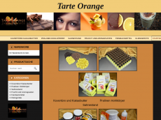 Screenshot der Domain tarte-orange.de