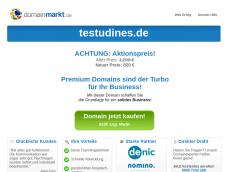 Screenshot der Domain testudines.de