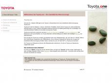 Screenshot der Domain toyota-one.de