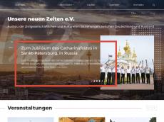 Screenshot der Domain unz-ev.de