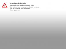 Screenshot der Domain urlaubsvertretung.de
