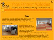 Screenshot der Domain yoga-zentrum-waldshut.de