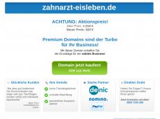 Screenshot der Domain zahnarzt-eisleben.de