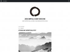 Screenshot der Domain zen-alltag.de
