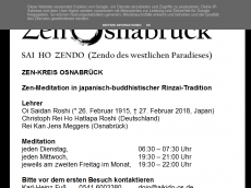 Screenshot der Domain zen-osnabrueck.de