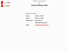 Screenshot der Domain zendel-software.de