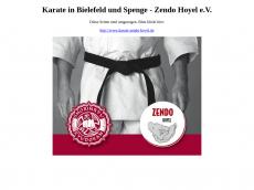 Screenshot der Domain zendo-hoyel.de