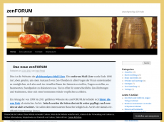 Screenshot der Domain zenforum.de
