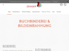 Screenshot der Domain zenger-hanau.de