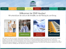 Screenshot der Domain zenit-hausbau.de