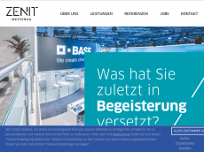 Screenshot der Domain zenit-messebau.de