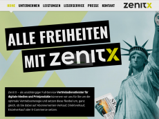 Screenshot der Domain zenitcom.de