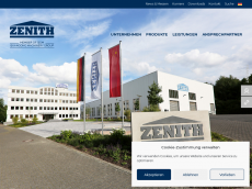 Screenshot der Domain zenith.de