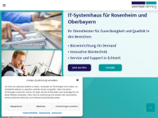 Screenshot der Domain zenker-buerozentrum.de