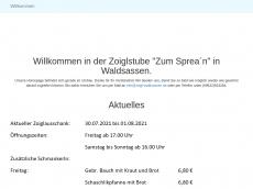 Screenshot der Domain zoigl-waldsassen.de